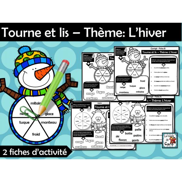 Tourne et lis – Thème: L'hiver
