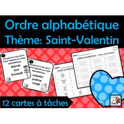 Ordre alphabétique Thème: Saint-Valentin