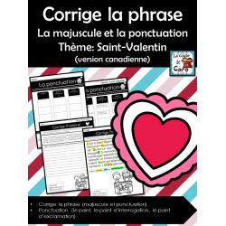 La majuscule et la ponctuation - Saint-Valentin