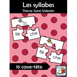 Les syllabes - Saint-Valentin - Casse-têtes