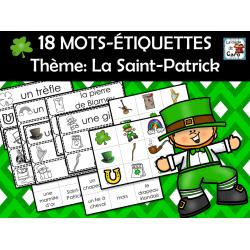 18 MOTS-ÉTIQUETTES  Thème: La Saint-Patrick