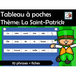 Tableau à poches  Thème: La Saint-Patrick