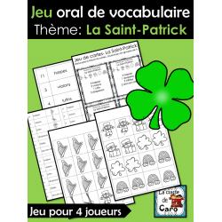 Jeu oral de vocabulaire La Saint-Patrick
