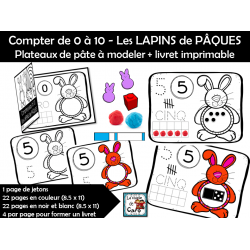 Compter de 0 à 10 - Les LAPINS de PÂQUES