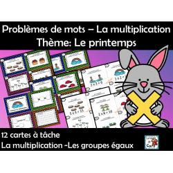 Problèmes de mots – Multiplication - Le printemps