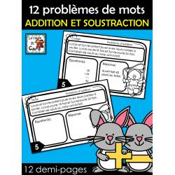 12 problèmes de mots  - Mathématiques