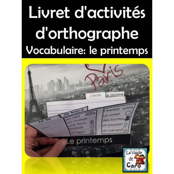 Livret d'activités - Vocabulaire: le printemps