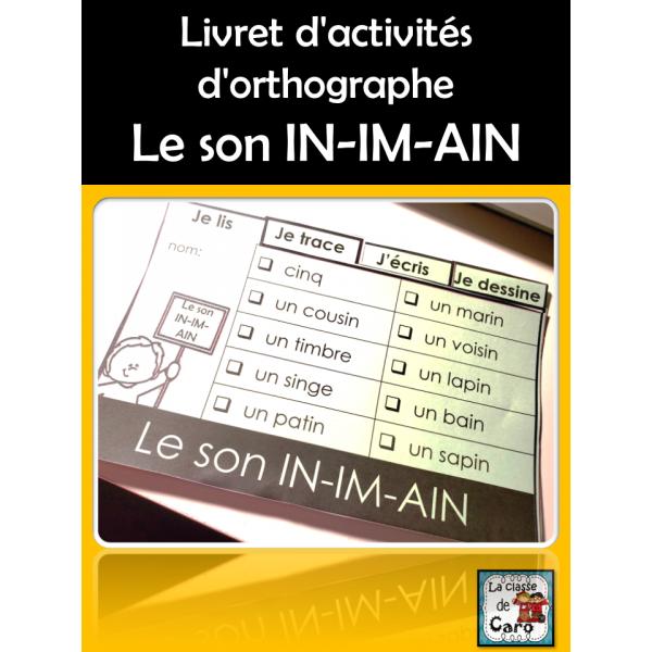 Livret d'activités - Le son IN-IM-AIN