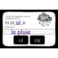 Choisis l'orthographe correcte  Le son UI   UY