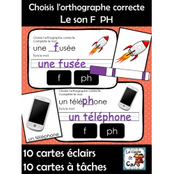Choisis l'orthographe correcte  Le son F  PH