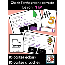 Choisis l'orthographe correcte  Le son IN IM