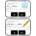 Choisis l'orthographe correcte  Le son G - GU