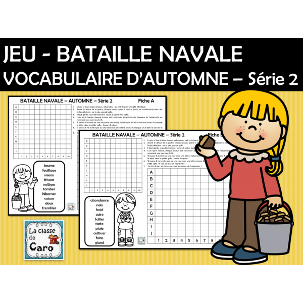 JEU - BATAILLE NAVALE - AUTOMNE – Série 2