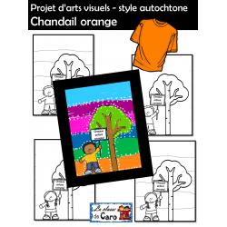 Arts autochtone -  Chandail orange