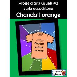 Projet d'arts #2 Chandail orange