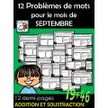 12 Problèmes de mots  pour le mois de SEPTEMBRE