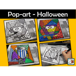 Pop-art - Halloween