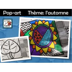 Pop-art     Thème: l'automne