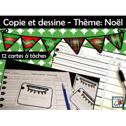 Copie et dessine - Thème: Noël