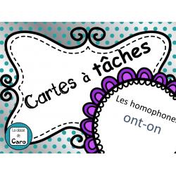 Cartes à tâches - Les homophones ont-on