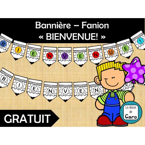 Bannière – Fanion «BIENVENUE!»