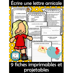 Écrire une lettre amicale - Écriture créative