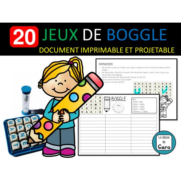 20 JEUX DE BOGGLE - ÉCRIT
