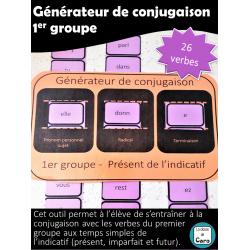 Générateur de conjugaison -1er groupe - Imprimable