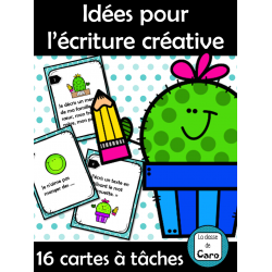 16 idées pour l'écriture créative