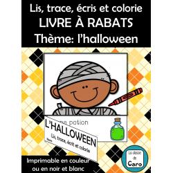 Lis, trace, écris et colorie - Halloween