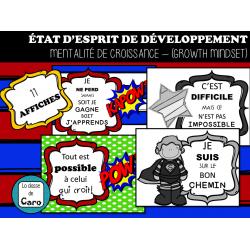 AFFICHES ÉTAT D'ESPRIT DE DÉVELOPPEMENT