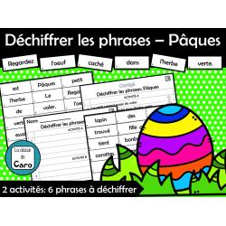 Déchiffrer les phrases – Pâques