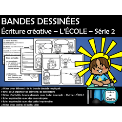 BANDES DESSINÉES – L'ÉCOLE – Série 2