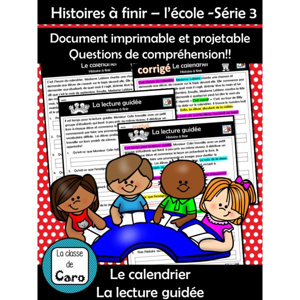 Histoires à finir – l'école -Série 3