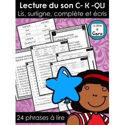 Lecture du son C- K -QU  ❤