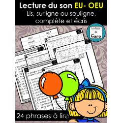 Lecture du son EU- OEU ❤