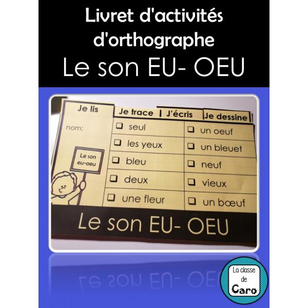Livret d'activités - Le son EU- OEU