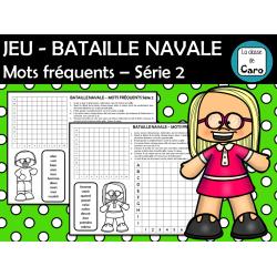 JEU - BATAILLE NAVALE Mots fréquents Série 2