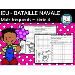 JEU - BATAILLE NAVALE Mots fréquents Série 4