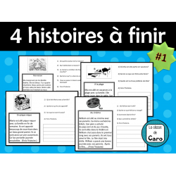 4 HISTOIRES courtes et simples à finir #1