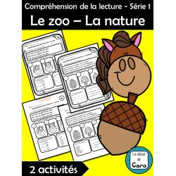 Compréhension de la lecture - Le zoo – La nature