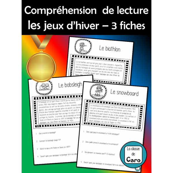COMPRÉHENSION DE LA LECTURE- Jeux D'HIVER #1