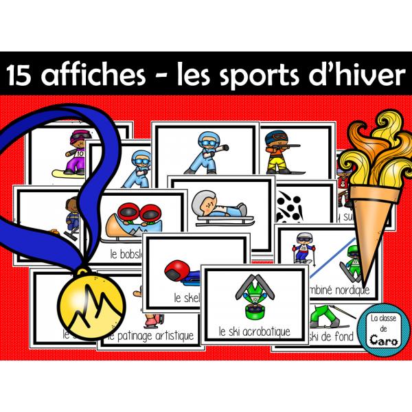 15 affiches pour les jeux d'hiver