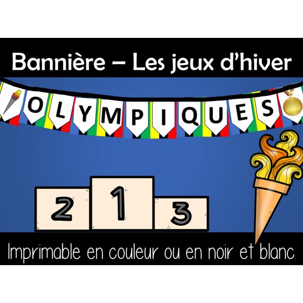 FANION - Bannière - Jeux d'hiver