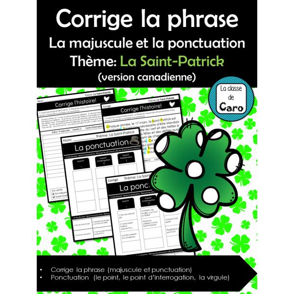 La majuscule et la ponctuation - La Saint-Patrick