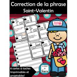 Correction de la phrase Saint-Valentin