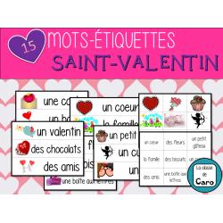 15 Mots-étiquettes pour la Saint-Valentin