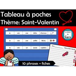 Tableau à poches  Thème: Saint-Valentin