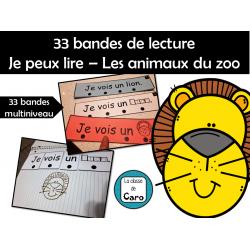 Bandes de lecture – Les animaux du zoo