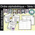 Ordre alphabétique – Série 1 - Cartes à tâches